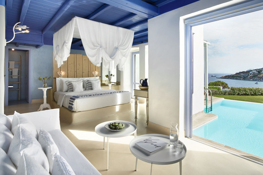Mykonos Blu Apartment with Sharing Pool