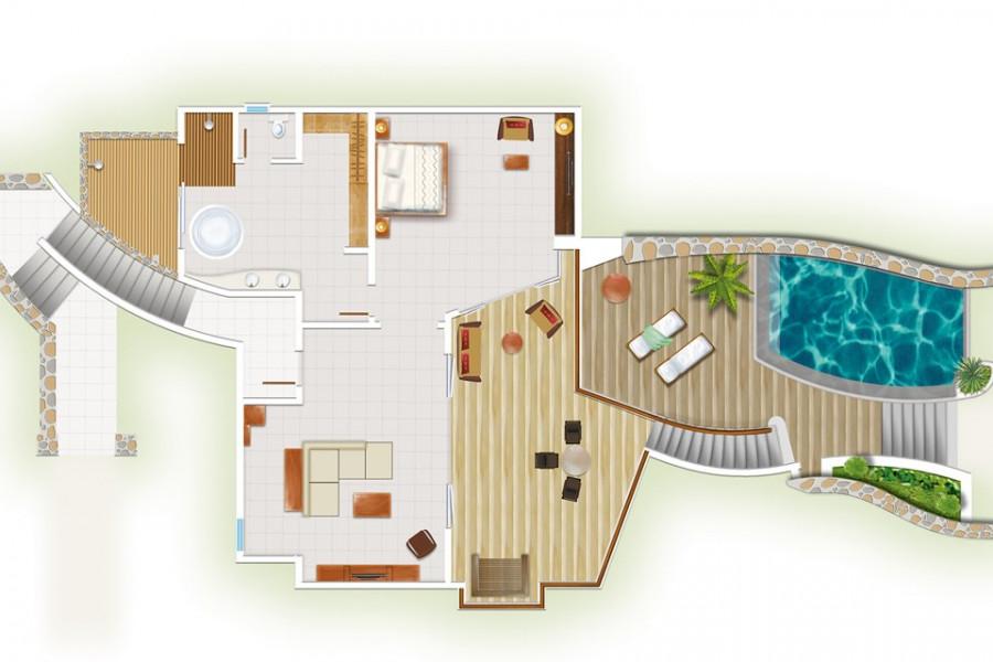 Beachfront Senior Suites with Pools