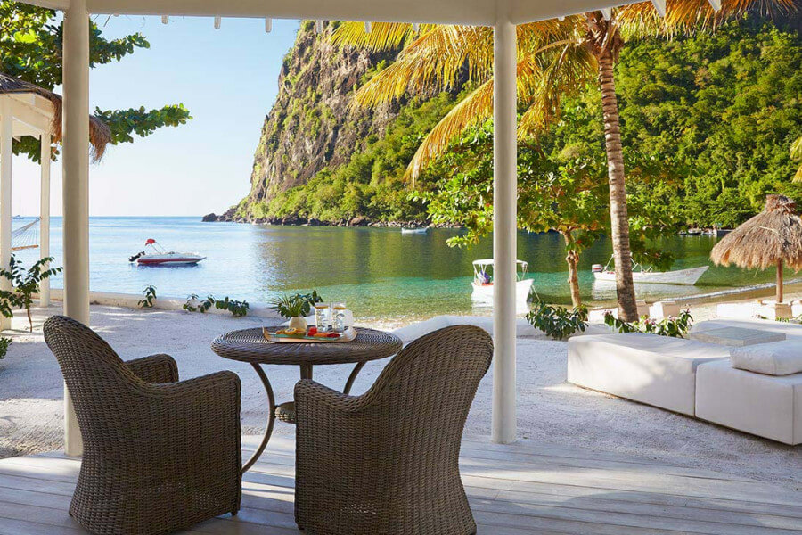 Luxury Beachfront Bungalow Sugar Beach st lucia